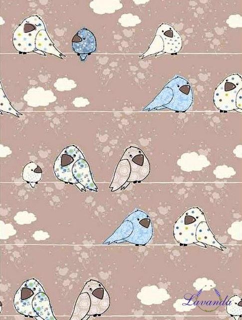 Látka bavlnená Vtáčiky 6a06b146213