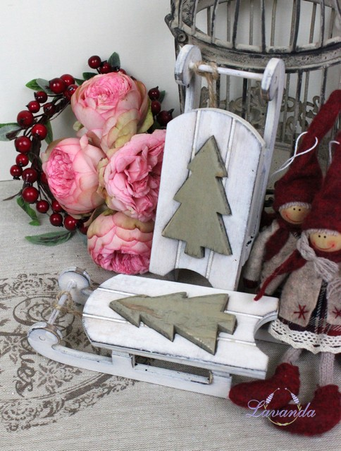 e98a8761f Drevená sánky Stromček, vianočná dekorácia so stromčekom
