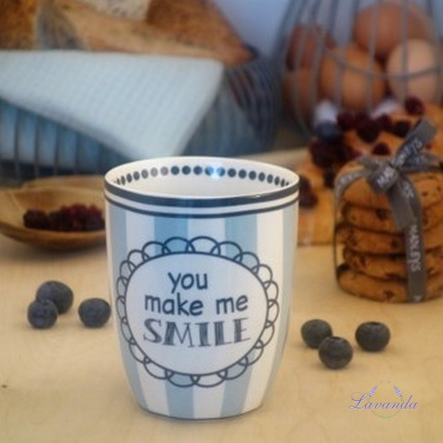 "Porcelánový hrnček "" You make me SMILE """