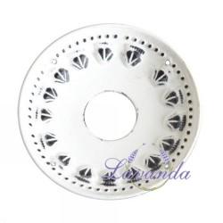 6109d9355 Dekoratívny krúžok na sviečky White Rustic - veľký